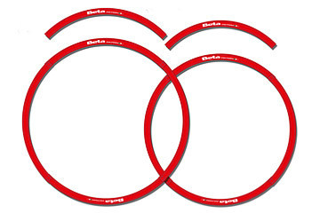 Beta Red Rim Decals