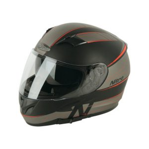 NITRO N2300 AXIOM DVS Helmet SATIN BLK/GUN/RED L