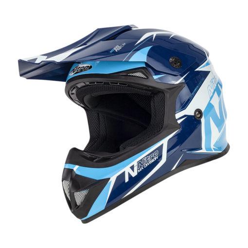 NITRO MX620 PODIUM Helmet BLU/LIGHT BLU XL