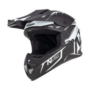 NITRO MX620 PODIUM JUNIOR Helmet SATIN BLK/WHT YL