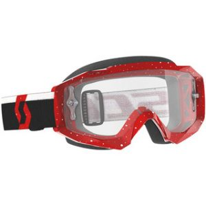 SCOTT GOGGLE HUSTLE X MX - RD w/ CLEAR LENS