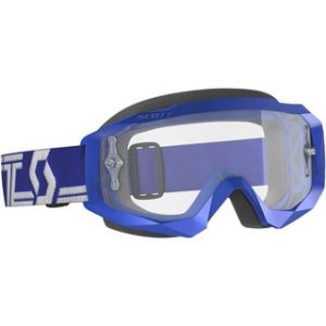 SCOTT GOGGLE HUSTLE X MX - BL/WHT w/ CLEAR LENS