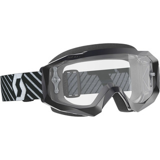 SCOTT GOGGLE HUSTLE X MX - BLK w/ CLEAR LENS
