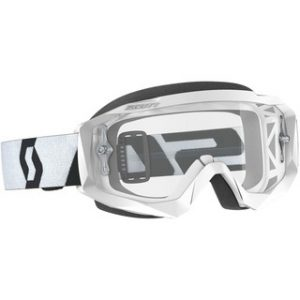 SCOTT GOGGLE HUSTLE X MX - WHT w/ CLEAR LENS